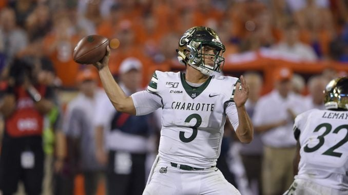 Charlotte 49ers Players Lead Youth Football Clinic Prior to Bahamas Bowl