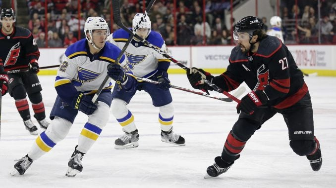 Louis Blues Acquire Justin Faulk From The Carolina Hurricanes