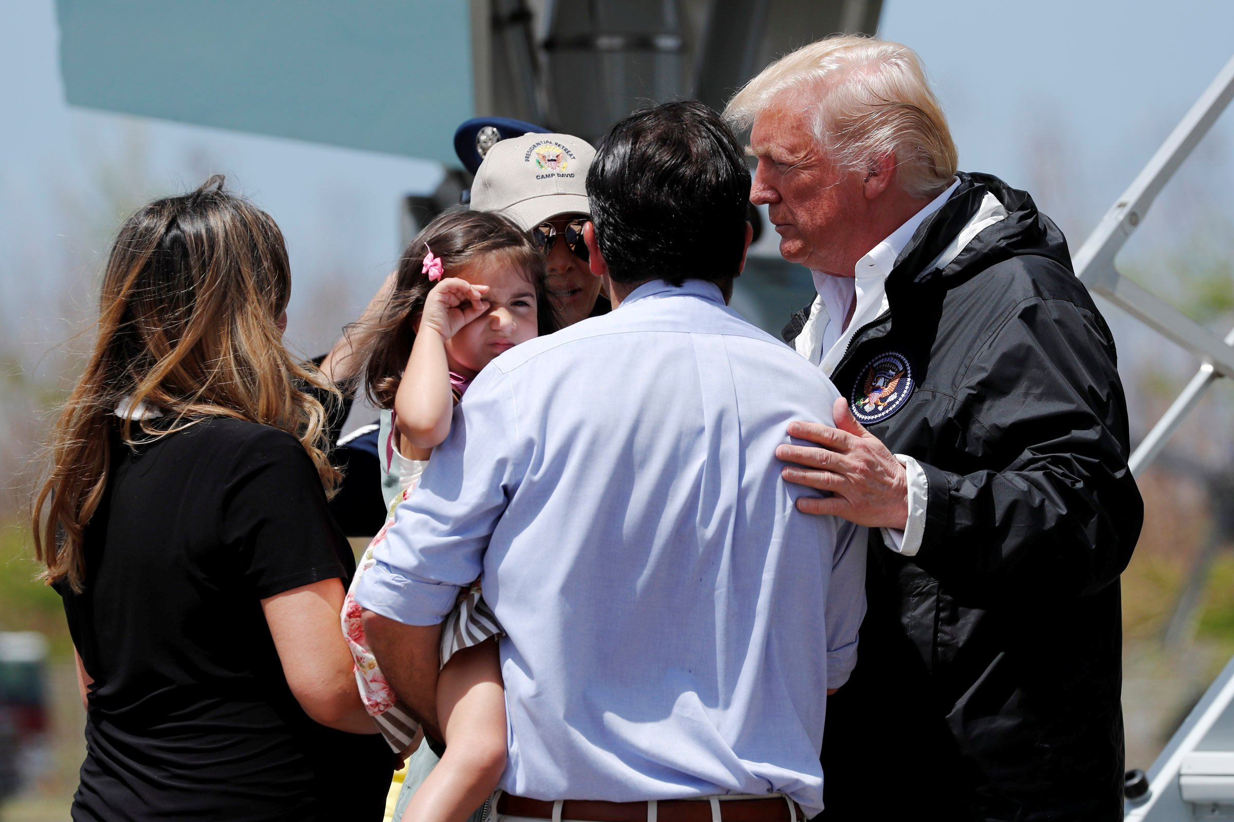 Trump visits Puerto Rico to survey damage from Hurricane Maria and relief efforts