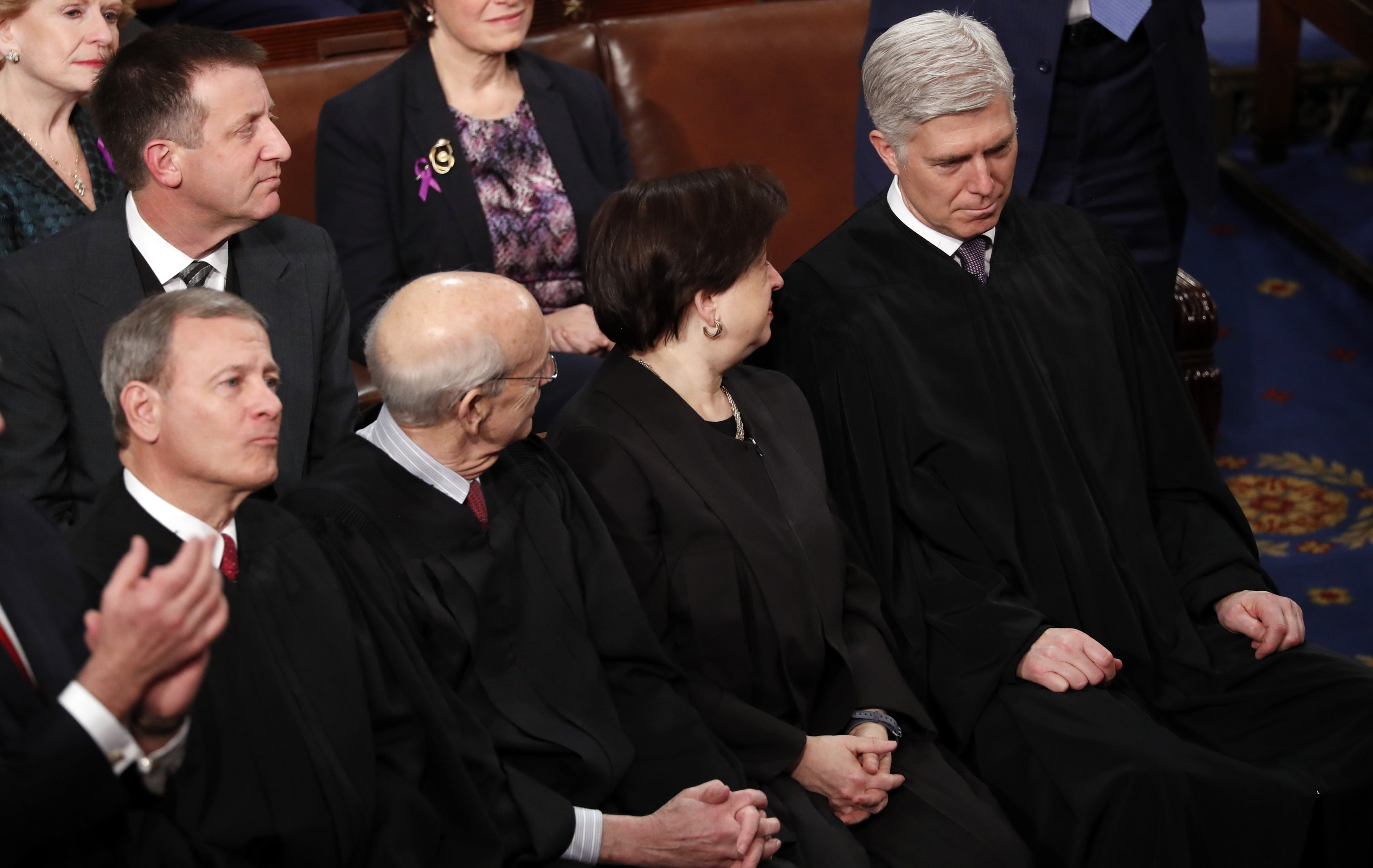 Supreme Court Chief Justices attend President Trump's State of the Union address in Washington
