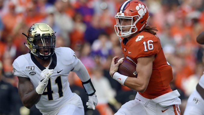 Lawrence Throws 4 Tds Clemson Routs Deacons The North