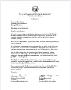 NCGA - Cooper - Reopen NC - Raleigh Police - Executive Order