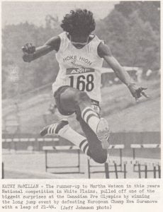 Kathy McMillian was a state champion at Hoke County High